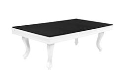 Mesa de billar concertible en mesa comedor